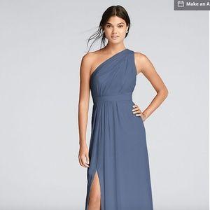 One Shoulder David's Bridal Dress